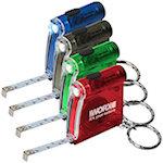 Tape Measure LED Flashlight Keychains
